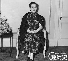 宋美龄国外定居带九十九箱衣物:宋美龄有多少旗袍 -趣历史