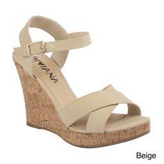 Amazon.com: DIVIANA KEALIE-01 Women's Crisscross Wedge Sandals With Buckle Ankle Strap: Shoes