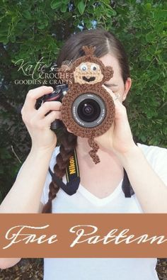 Crochet ** Monkey Lens Buddy **  With Special Thanks to a free pattern by Katie, Katie's Crochet Goodies & Crafts.