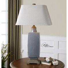 Uttermost Tilton Light Gray Ceramic Table Lamp 26943