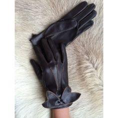 Damen Handschuhe Dunkelbraun Lila-Gelb #winterhandschuhe #handschuhe #lined #leather #gloves #lederhandschuhe #autohandschuhe #hungant