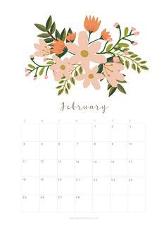 Printable May 2018 Calendar Monthly Planner - Flower Design - A Piece Of Rainbow Monthly Planner Printable, Calander Printable, Calendar 2019 Printable, Blank Calendar Template, May Calander, May 2018 Calendar, Monthly Calender, February Calendar, Event Calendar