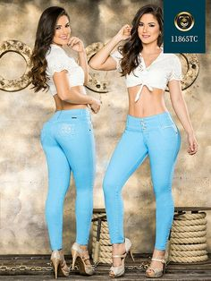 Ropa Colombiana a Tu medidas💙 fashion is my passion 👌 nice jeans levantacolas www.hotredfashion.com  #fashion #denim #levantacolas www.hotredfashion.com #jeans #glam Best Jeans, My Passion, Capri Pants, Denim, Nice, Dresses, Fashion, My Crush, Vestidos