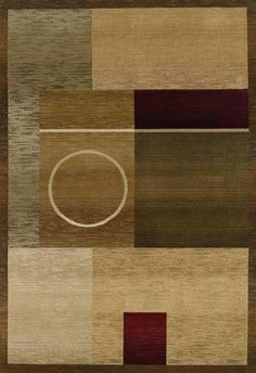 Oriental Weavers Sphinx Generations 1987g: Brown beige tan olive green shapes pattern rug rugs carpet modern contemporary. SAVE 22% + FREE SHIPPING with Promo Code: COUPON22
