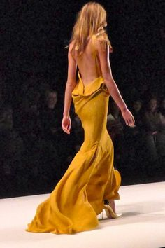 Love this backless dress gown mustard yellow goldenrod fitted floor length