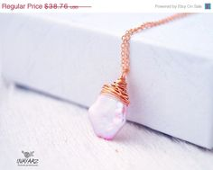 HOLIDAY SALE Pink lavender Keishi Pearl Rose gold by INAYAAZ