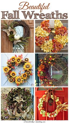 6 Beautiful Fall Wreaths you can make!