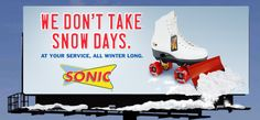 Sonic Drive-In Winter Campaign by Cathy Verhulst, via Behance