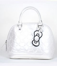 Hello Kitty Small Ivory Embossed Tote Bag