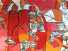 Voorbeeld werkstuk: van realistisch naar abstract