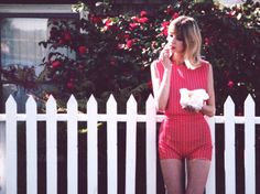 Sweetheart Two Piece Red and White Heart Crop and Shorts by DWDanielleWood