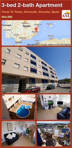 Apartment for Sale in Close To Town, Almoradi, Alicante, Spain with 3 bedrooms, 2 bathrooms - A Spanish Life Apartments For Sale, Valencia, Alicante Spain, Family Bathroom, Double Bedroom, Ground Floor, Rooftop, Terrace