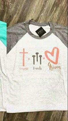 cute vinyl t-shirt ideas Monogram Shirts, Vinyl Shirts, Tee Shirts, Christian Clothing, Christian Shirts, Vinyl Designs, Shirt Designs, Jesus Shirts, Cute Tshirts