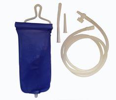 Kit / Ducha Enema (portátil).  Para viajes y uso en el hogar.  2 litros.