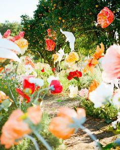 inspiration | oversized paper blooms | via: martha stewart weddings