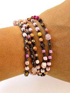 Häkeln Sie Wickel-Armband oder Halskette Perlen