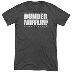 """Checkout our #LicensedGear products FREE SHIPPING + 10% OFF Coupon Code """"Official"""" The Office / Dunder Mifflin-short Sleeve Adult Tri-blend - The Office / Dunder Mifflin-short Sleeve Adult Tri-blend - Price: $44.99. Buy now at https://officiallylicensedgear.com/the-office-dunder-mifflin-short-sleeve-adult-tri-blend"""