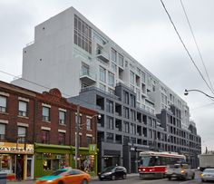 Contemporary building that sits between the high-energy of Bathurst Street to the West and quiet residential streets to the East.
