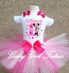 5th fifth Birthday Dress shirt 2pc Pink Tutu outfit Princess Crown--With NAME-