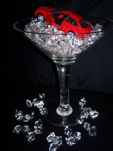 james bond party decor - replace car w/other object to fit theme