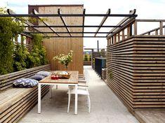 Bilderesultat for sett opp veranda rekkverk Outdoor Spaces, Outdoor Living, Outdoor Decor, Roof Design, House Doctor, Back Gardens, Modern Kitchen Design, Garden Beds, Garden Inspiration