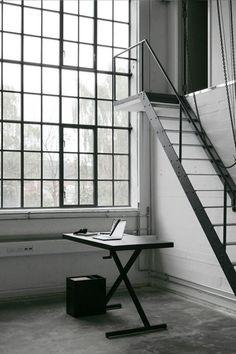 Iron stairs to...