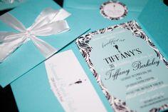 Breakfast at Tiffany's party invitation