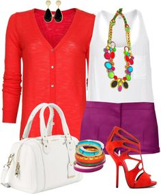 """""""Color Block Jewelry"""" by yolandamorales on Polyvore"""