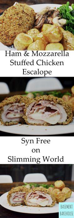 Ham & Mozzarella Stuffed Chicken Escalope - Syn Free on Slimming World - Healthy Extra B & Healthy Extra A