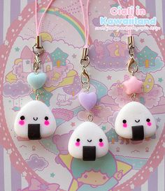 Hey, I found this really awesome Etsy listing at https://www.etsy.com/listing/162071287/kawaii-onigiri-phonestrap-with-a-free