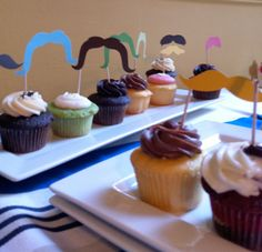 Mustach Bash Cupcakes