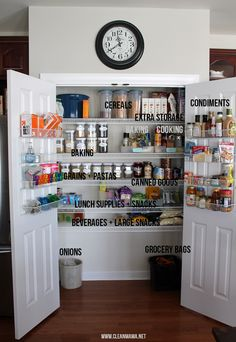 Organize your pantry logically and easily with these tips. Organize Your Pantry into Zones via Clean Mama