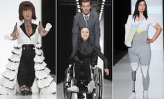 Russian designers use disabled models on the catwalk at Moscow #DailyMail