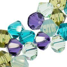 5328 6mm Swarovski Elements Crystal Mix - Peacock | Fusion Beads