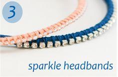 Day Sparkle Headbands - a diy headband tutorial - Flax & Twine Headband Tutorial, Diy Headband, Diy Tutorial, Rhinestone Headband, Rhinestone Jewelry, Flower Tutorial, Twine Crafts, Cute Crafts, Crafts To Make