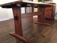 Walnut Trestle Table Base