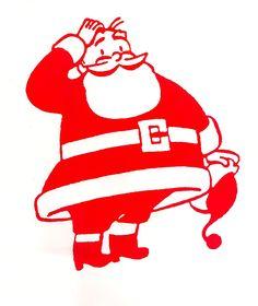 Retro Santa MCM Christmas Image  mid-century