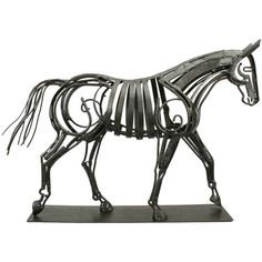 Equestrian Sculpture of a Horse | From a unique collection of antique and modern animal sculptures at http://www.1stdibs.com/furniture/more-furniture-collectibles/animal-sculptures/