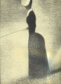 Even though some of Seurat's conté crayon drawings were studies, they are still so hauntingly beautiful.