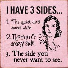 3 sides - vintage retro funny quote