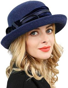 Find F FADVES Women Wool Felt Hat Wide Brim Fedora Hats Retro Bowler Floppy Church Cap online. Shop the latest collection of F FADVES Women Wool Felt Hat Wide Brim Fedora Hats Retro Bowler Floppy Church Cap from the popular stores - all in one Wide Brim Fedora, Fedora Hats, Felt Hat, Wool Felt, Fur Headband, Aviator Hat, Millinery Hats, Winter Hats For Women, Fringe Scarf