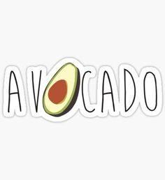 Word stickers featuring millions of original designs created by independent artists. Avocado Art, Cute Avocado, Super Junior, Cute Wallpapers, Wallpaper Backgrounds, Billie Eilish, Avocado Picture, Bedroom Wall Collage, Cute Fruit