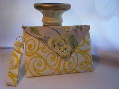 Yellow Swirl Envelope Clutch. $20.00, via Etsy.