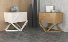 Inspired by rhombus geometry and slanting lines. Collection aimed for living premises, and consists from commode, sectioned sideboard and bedside table . Geometric Furniture, Furniture Sets, Cabinet, Storage, Table, Behance, Home Decor, Houses, Clothes Stand