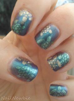 Models Own Aqua Violet + stamping Turtles! #nails #nailart Nail Newbie