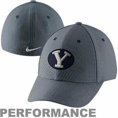 Nike Brigham Young Cougars Superfan Legacy91 Flex Performance Hat - Charcoal