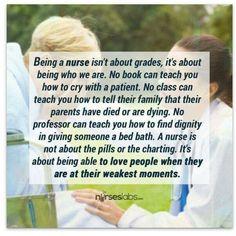 Being a nurse...