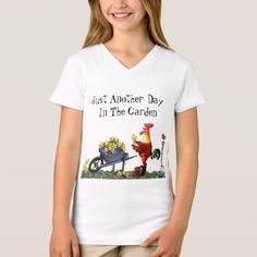 Red rooster Just Another Day In The Garden T-Shirt - red gifts color style cyo diy personalize unique