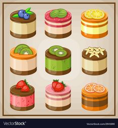 Set cupcakes vector image on VectorStock Cupcake Vector, Pecan, Adobe Illustrator, Vector Free, Cupcakes, Menu, Pdf, Image, Food