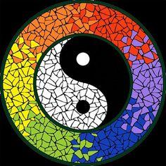 Completed Yin U0026 Yang Strong Mosaic Mandala Kit Created In Ceramic Tiles  Design By Brett Campbell Mosaics